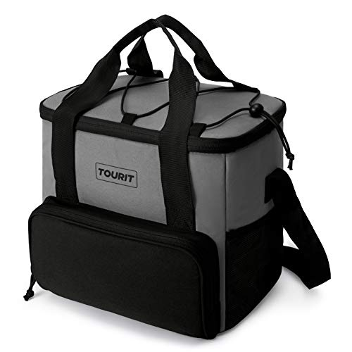 TOURIT Cooler Bag 24-Can Insulated Soft Cooler Lunch Coolers Portable Cooler Bag for Picnic, Beach, Work, Trip, Daily,Grey