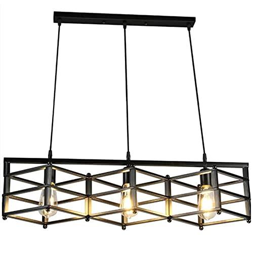 Industriële ijzeren kroonluchters, Amerikaanse retro led zwart eettafel verlichting decoratieve kroonluchter plafondlampen vintage creatieve bar woonkamer interieur hanglamp