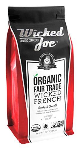 Wicked Joe Coffee Wicked French Ground, 12 oz, Red