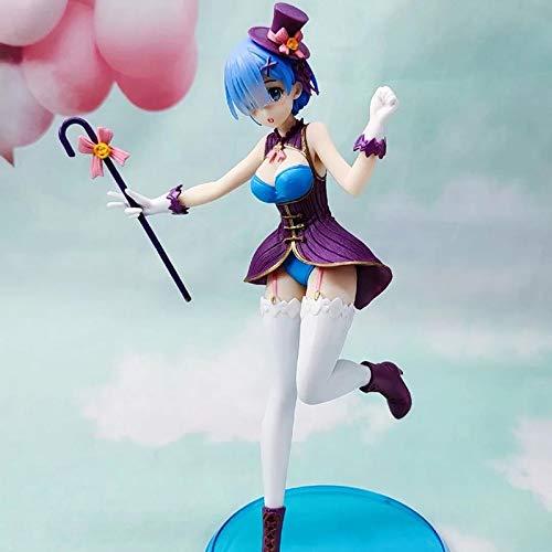 Decoracin para el hogar Rem Anime Re:Life In A Different World From Zero EXQ Rem Disfraz de Navidad Ver Figura de accin de PVC Modelo Juguetes Regalo (color : Mago sin caja)