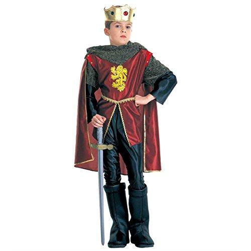 NET TOYS Enfants Princes Costume déguisement de Roi Rouge Noir L 158 cm 11-13 Ans Costume de Prince Robe de Roi déguisement de Chevalier Prince Roi Chevalier déguisement Enfant