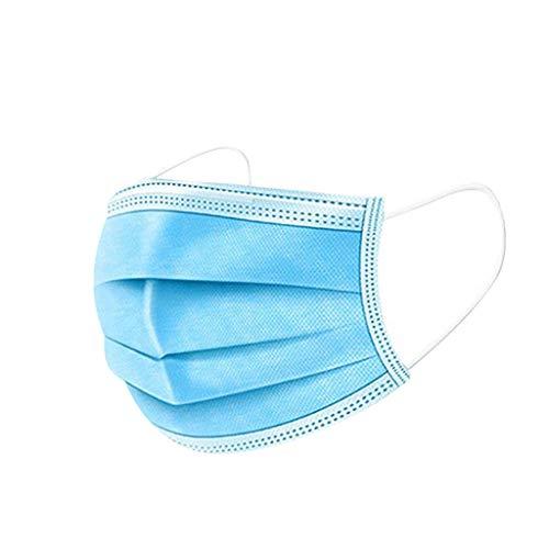 QiFei 20 Stück Maske_Einwegmaske_𝗔𝘁𝗲𝗺𝘀𝗰𝗵𝘂𝘁𝘇𝗺𝗮𝘀𝗸𝗲 𝗙𝗶𝗹𝘁𝗿𝗮𝘁𝗶𝗼𝗻_Mundschutz_Schutzmasken_Masken Erwachsene Blau