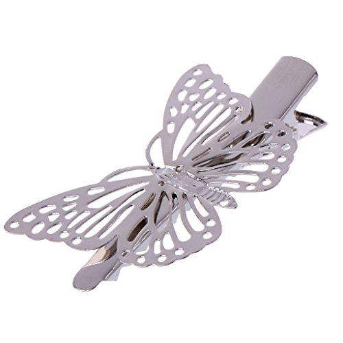 Niumanery Fashion Girls Women Butterfly Barrette Hair Clip Hairpin Accessories Headpiece Silver