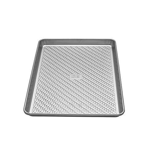 Chicago Metallic 5237968 sans revêtement texturé en aluminium Medium/Cookie/feuille de cuisson, Argent