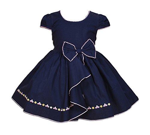 Cinda bébé Filles Robe de fête Bleu foncé 3-6 Mois
