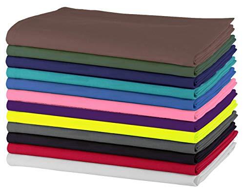 SweetNeedle - Paquet de 12 - Serviettes de table surdimensionnées 100% coton 50 CM x 50 CM (20 po x 20 po), multicolores - Tissu épais pour un usage quotidien avec finition à coins taillés