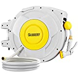 BLUBERY Hose Reel, 5/8' x 100+6.7 ft Retractable...