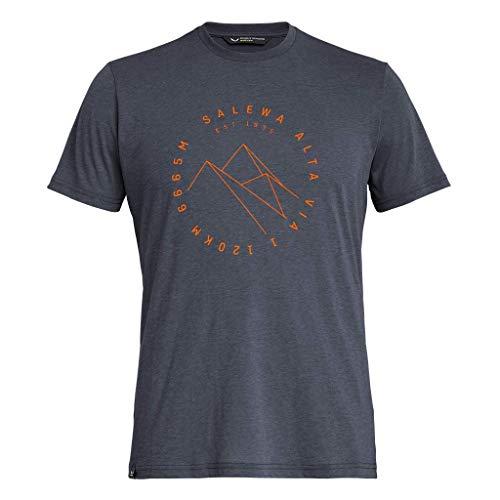 Salewa Herren Hemden und T-Shirts Alta Via Dri-Rel M S/Tee, Premium Navy Melange, 50/L, 00-0000027406
