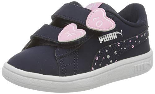 PUMA Baby Mädchen Smash V2 Cndy V Inf Sneaker, Peacoat-Peacoat, 26 EU