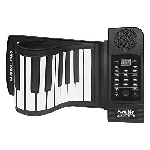 JJCFM Rollo De La Mano del Piano, 61 Llaves Flexible Rueda para Arriba del Piano Portátil De Silicona Electrónico De Midi Suave Teclado De Piano, Mano del Hogar De Laminado En Musical Instrument