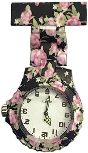 LLGG Prendedor De Broche Reloj De Bolsillo,Reloj médico de Pecho de Enfermera, Elegante Reloj de Cuarzo-9,Reloj MéDico