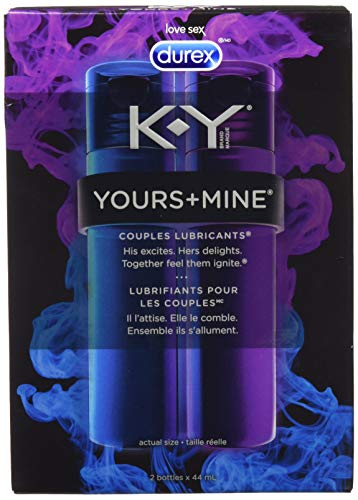 K,Y Yours+Mine, Personal Lubricant For Couples ( 2 Count of 1.49 Fl Oz each), 2.98 Fl Oz