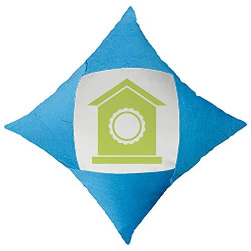 OFFbb-USA - Funda para cojín de coche, diseño de nido verde, color azul