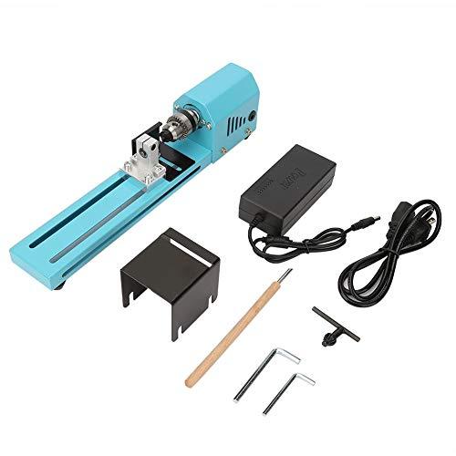 Mini herramientas de torno de madera, torno de madera, máquina de pulir perforadora en miniatura eléctrica de 150 W, enchufe de torno de madera DIY CN 220 V