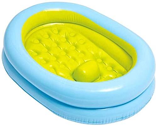 TGFVGHB Bebé Inflable de hidromasaje Puede Sentarse y tumbarse en un 45 ° Deslizamientos niños Inflable Anti-resbaladiza Piscina Plegable (Color : A)