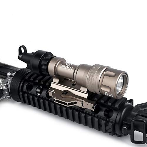 WADSN Scout Light M952V Linterna táctica de 350 lúmenes, linterna con interruptor de presión, antorcha táctica con montaje QD(Desert)