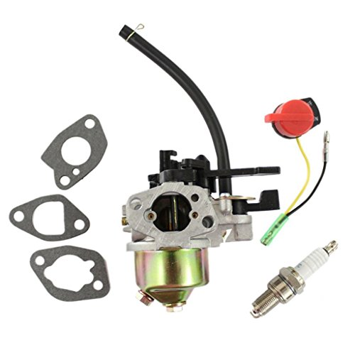 HURI Carburetor + Spark Plug + Stop Switch + Gasket for Harbor Freight Chongqing Loncin 212cc 6.5hp G200F Pressure Washer