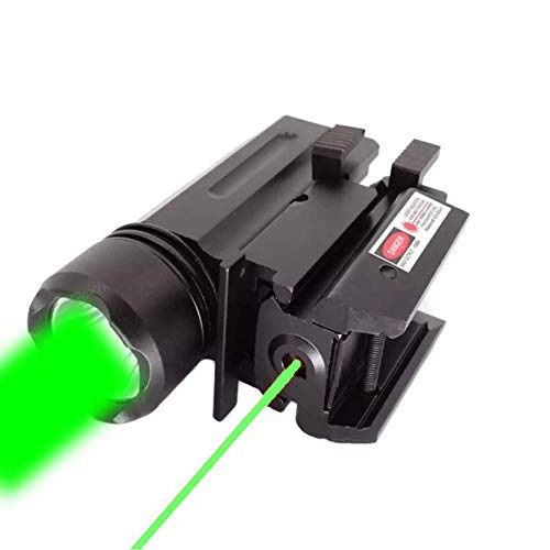 GOTICAL 2 in 1 Tactical Pistol Red Dot Laser Sight Or 180 Lumen Cree LED Flashlight Or Combo Hunting Accessories for Pistol Guns 1911 M9 Glock 17,19,20,21,22,23,30,31,32 (Combo)