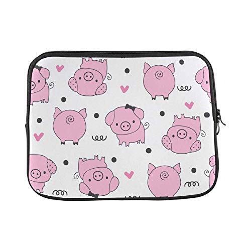 INTERESTPRINT Laptop Sleeve Bag Funny Pig Animal Notebook Computer Carrying Case Cover 14 Inch 14.1 Inch