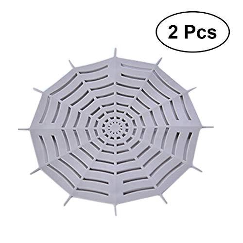 Besonzon Lot de 2 filtres à cheveux en silicone en forme de fleur pour évier, filtre pour piéger les cheveux et la saleté