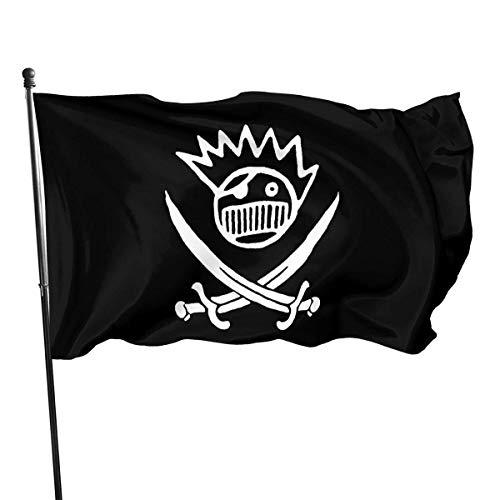 Ha99y Die 3x5ft Ween Pirate Logo Garden dekorative Flagge ist auf Einer Seite innen und außen gedruckt