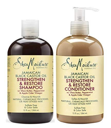 Shea Moisture - Jamaikanisch Schwarz Rizinus Öl Shampoo & Conditioner Set