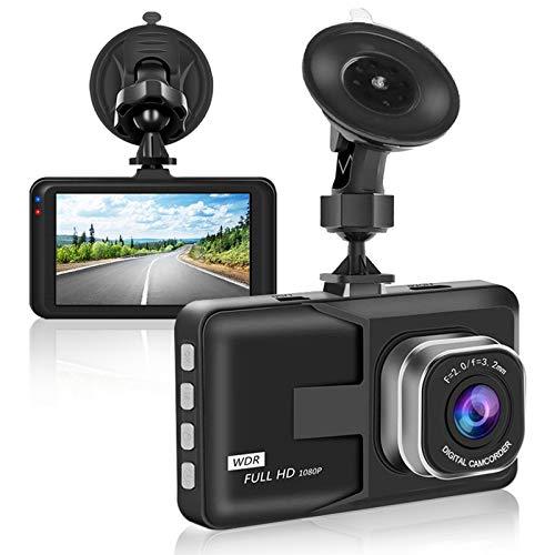 【Nueva versión 2021】 Aigoss Dash CAM 1080P FHD Cámara para Automóvil con Pantalla LCD de 3', WDR, G-Sensor, Monitor de Estacionamiento, Grabación en Bucle, Detector de Movimiento