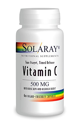 Solaray 500 MG Vitamin C Time Release Capsule - Pack of 60