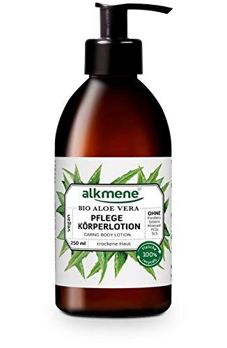 alkmene Pflege Körperlotion mit Bio Aloe Vera - Bodylotion für normale bis trockene Haut - vegane Körperpflege ohne Silikone, Parabene, Mineralöl, PEGs, SLS & SLES im - Lotion (1x 250 ml)