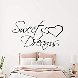 Sweet Dreams Inspirational Quote Wall Sticker Transfer Decal Bedroom Vinyl Gift v017