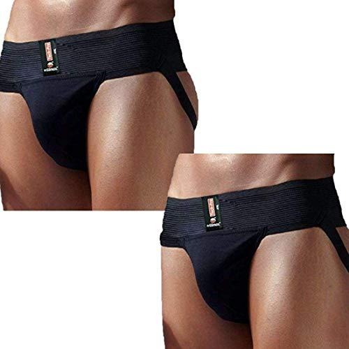 WILLMAX Tech Pro Jockstrap with Fashionable Straps Brief Multi Sport-BLK2-M
