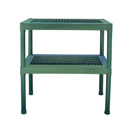 Rion 2 Tier Green Staging Bench