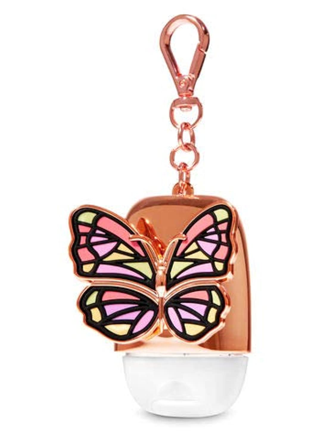 読むバランス脚本家【Bath&Body Works/バス&ボディワークス】 抗菌ハンドジェルホルダー ローズゴールドバタフライ Pocketbac Holder Rose Gold Butterfly [並行輸入品]