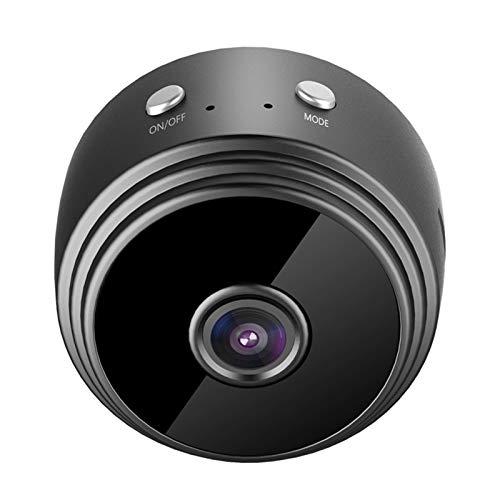 SOLE HOME Mini cámara espía, 1080P HD oculta cámara de niñera inalámbrica, portátil, pequeña cámara de vigilancia de seguridad para el hogar con visión nocturna, para interior/exterior