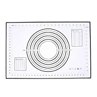 調理 ベーキングマット オーブンスケールローリング生地マットベーキングローリングフォンダン菓子マットノンスティック耐熱皿調理ツールの元大シリコンベーキングマット キッチン クッキングマット (Color : 3)
