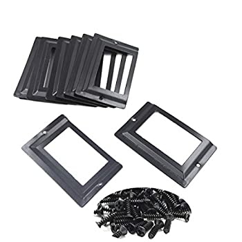 Socell 80x51mm 16pcs Office Library File Drawer Cabinet Card Tag Label Holder Metal Frame with Screws Black