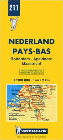 Nederland. Rotterdam, Apeldoorn, Maastricht 1:200.000 (Carte stradali)