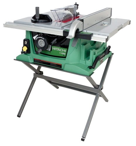 Hitachi C10RB 10-Inch Portable Jobsite Table Saw with Stand (Discontinued by Manufacturer)