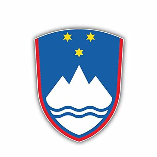 Adesivi per auto 8.6 cm X 11 cm Personalità Slovenia Bandiera Stemma Auto Automobile Adesivo Accessori Decalcomania 6-1408 .Adesivi per auto