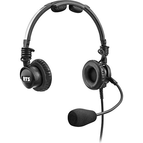 Buy Telex LH-302 Lightweight RTS Double-Sided Broadcast Headset (XLR 5-Pin Male Connector, Dynamic M...