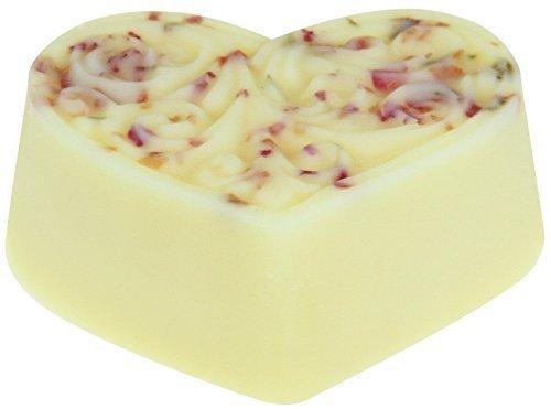 Greendoor Bodycreme-Herz Rosenblüte 80g, Body Butter, festes Massageöl, Hautpflege mit BIO Sheabutter BIO Kakaobutter, natürlich ohne Tierversuche, Geburtstags-Geschenk Natur Valentin
