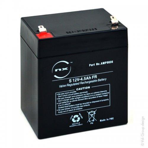 NX NXBaterías SAI (UPS) Plomo Sellado AGM12V4,5AhCompatible con: 4160 ; YUASA NP4-12FR ; YUCEL Y4-12FR ; EXALIUM EXA5-12 ; 6140-14-5937800 ; AJC D4.5S ⭐