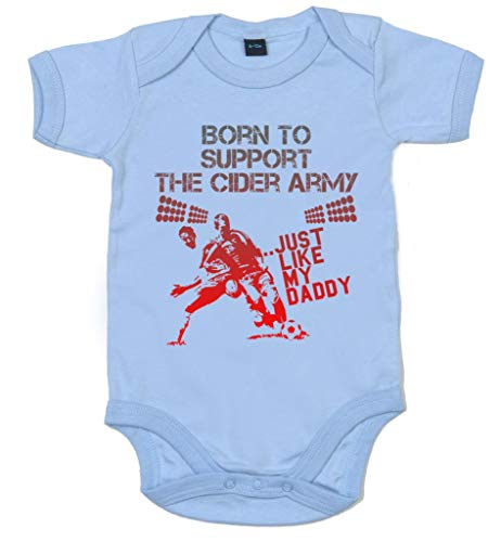 Image is Everything IIE, Born to Support The Cidre Army Just Like My Daddy, Body de Football pour bébé - Bleu - XXXX-Small