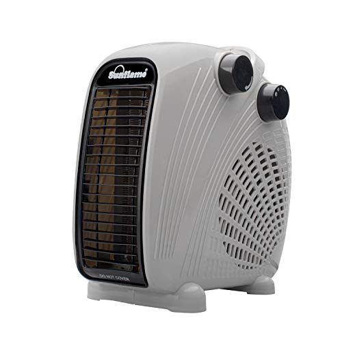 Sunflame SF 918 Electric Fan Heater for Room in Winter (Grey)