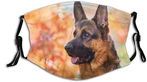 Made in usa Thanksgiving Scottish Terrier USA Flag Cloth Face Mask With Filter Pocket Washable Face Bandanas Balaclava Reusable Fabric ProtectionExciting German Shepherd