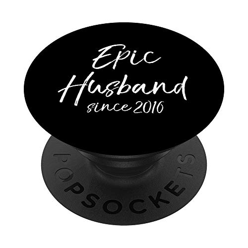 Matching 4th Anniversary Couple Gift Epic Husband Since 2016 PopSockets Grip and...