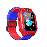 Kids Smart Watch,Waterproof Camera Touch Screen Kid LBS Tracker Watch SOS Anti-Lost Child Watch Phone with Positioning Voice Chat Flashlight Clock Camera