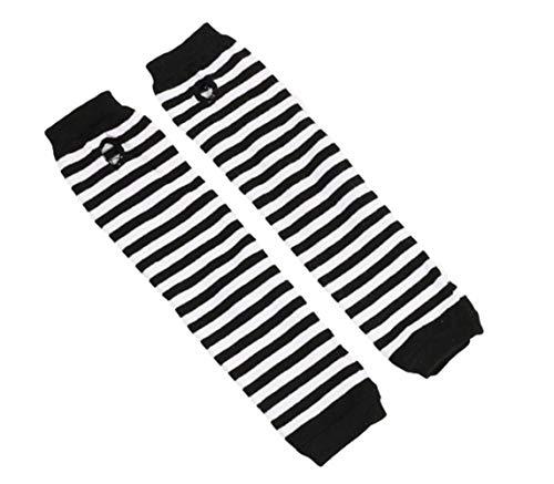 Upstore 1 Paar lange fingerlose Handschuhe, Armstulpen, gestrickt, Daumenloch, dehnbare Handschuhe, Fäustlinge, Armstulpen für Frauen und Mädchen