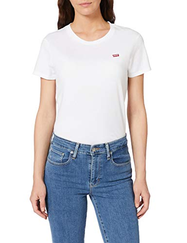 Levi\'s Damen Perfect Tee T-Shirt, Weiß (White Cn-100xx 0006), Large