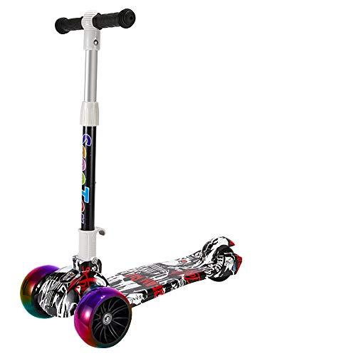 Youfen Kinder Roller Scooter - Kinderscooter für Mädchen und Jungen von 3 bis 8 Jahren,Premium Blinkenden LED Räder Kickscooter Dreiräder mit 3 Höhenverstellbare und Faltbar Lenker
